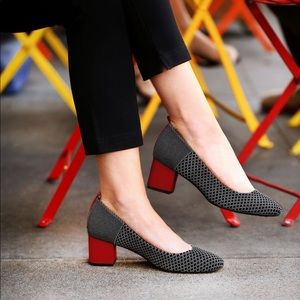 Betabrand Starting-Block Heels Black-Diamond 9.5